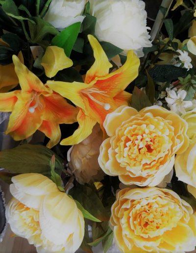 flores artificiales reales